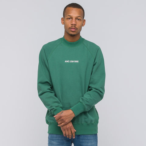 Aimé Leon Dore ALD Logo Crewneck in Bottle Green - Notre