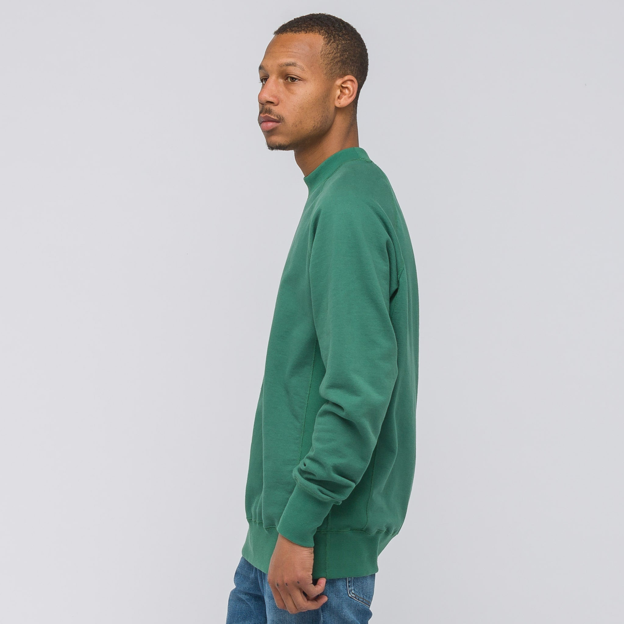 ALD Logo Crewneck in Bottle Green