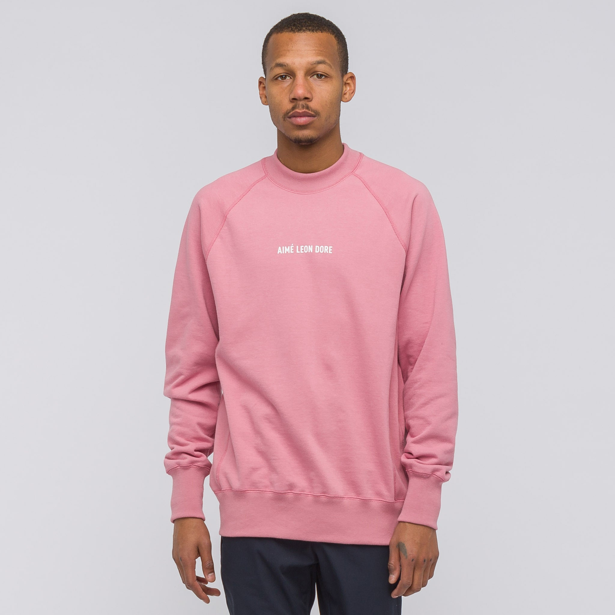 ALD Logo Crewneck in Dusty Pink