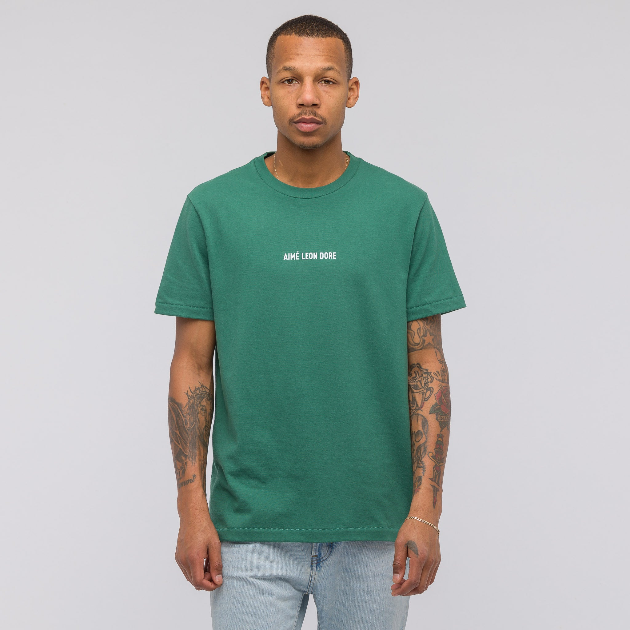 Graphic ALD T-shirt in Bottle Green