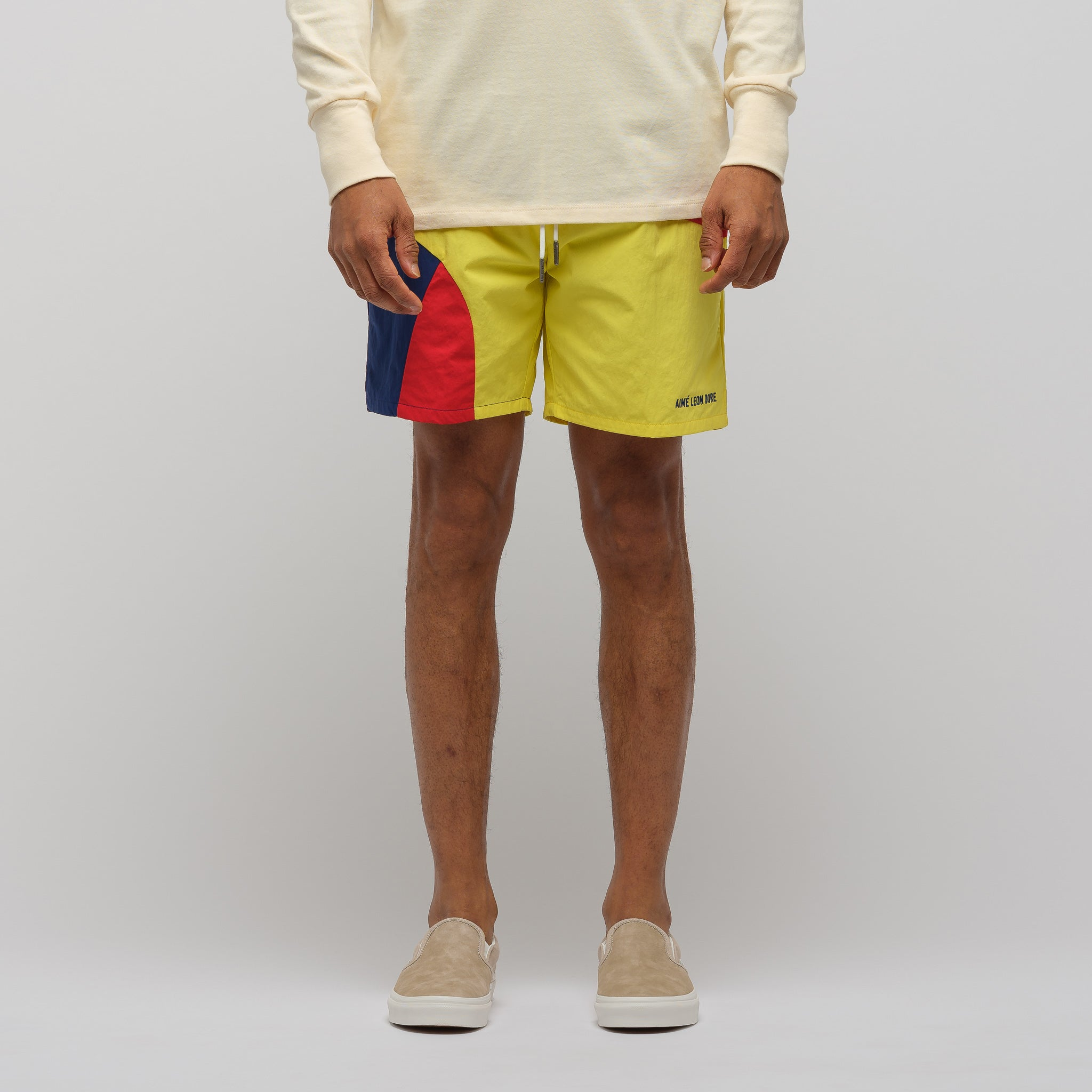 Color Blocked Swim Trunks in Midnight Combo