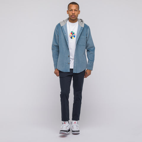 Aimé Leon Dore Corduroy Hoodie in Light Blue - Notre