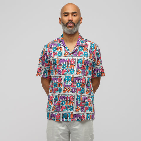 Aimé Leon Dore Crayon Print Leisure Shirt in Purple - Notre