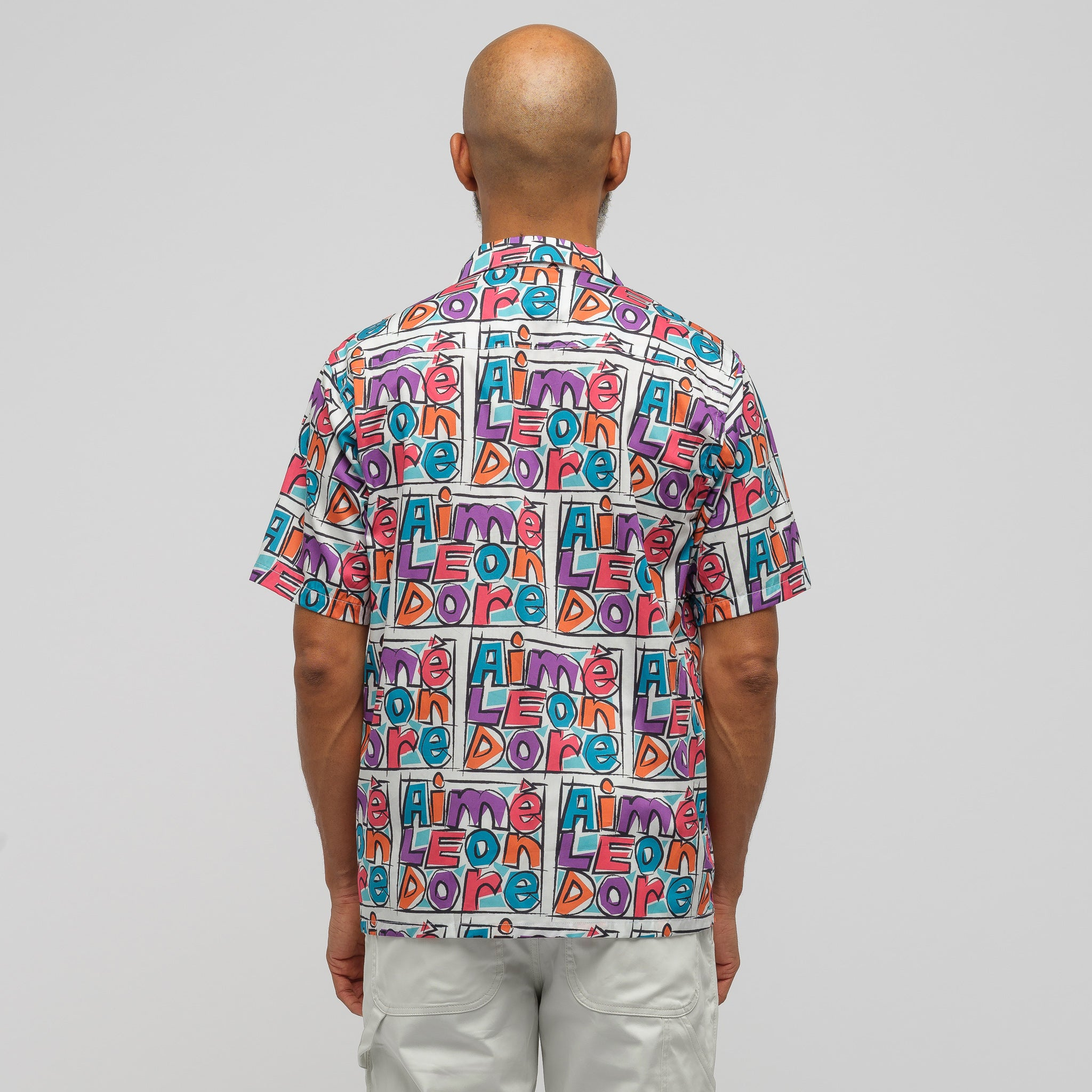 Crayon Print Leisure Shirt in Purple