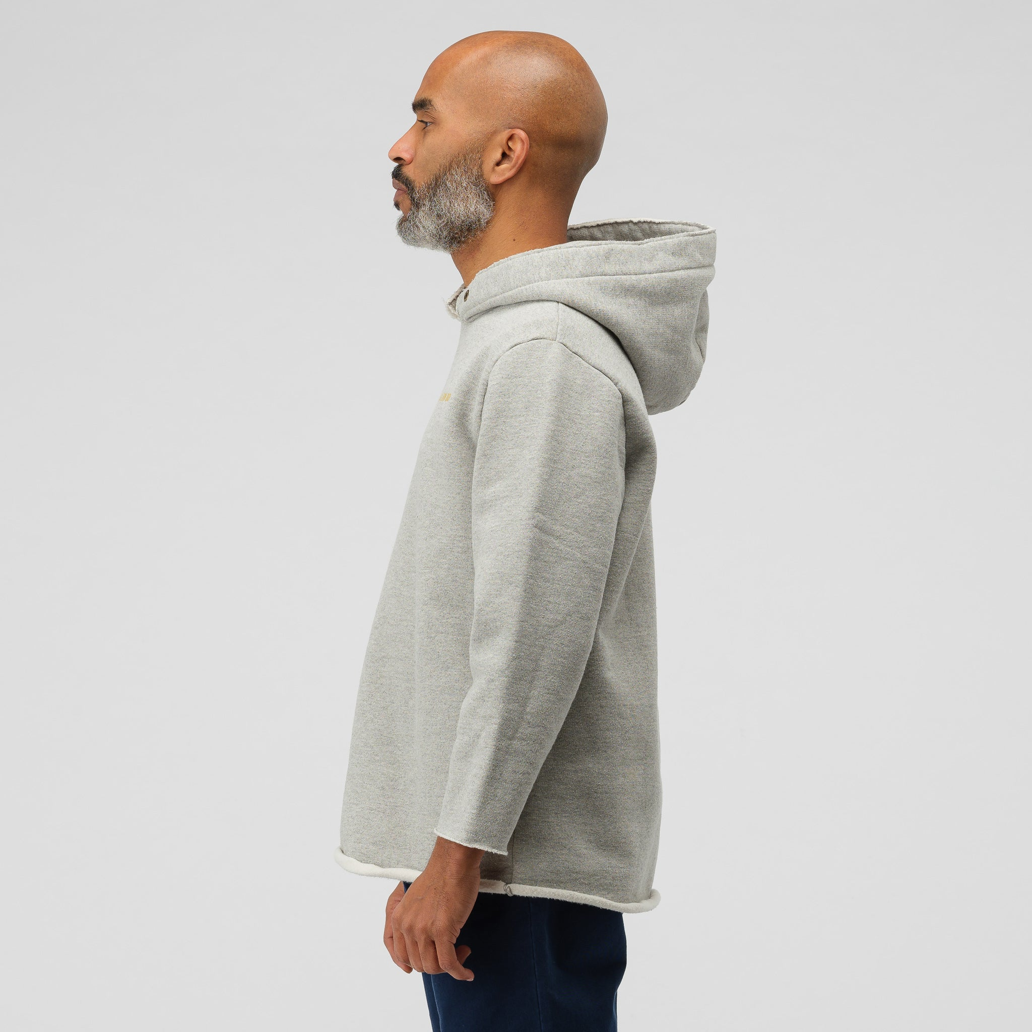 Deconstructed Gym Hoodie in Grey Mix