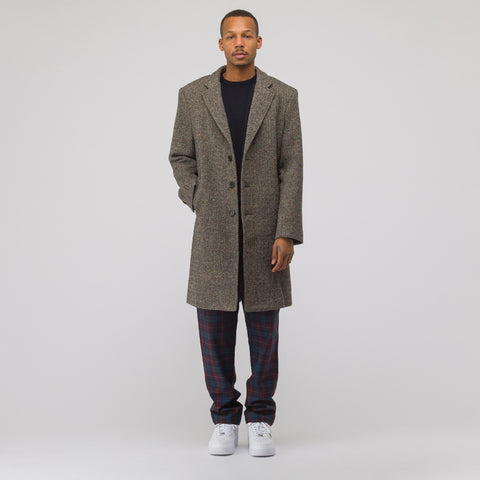 Aimé Leon Dore Donegal Tweed Top Coat in Grey Multi - Notre