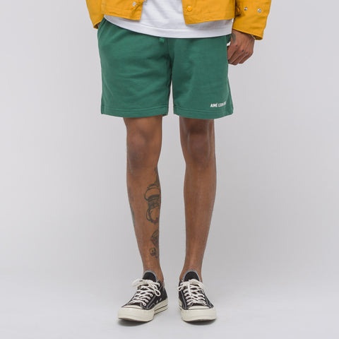 Aimé Leon Dore French Terry Camper Shorts in Bottle Green - Notre
