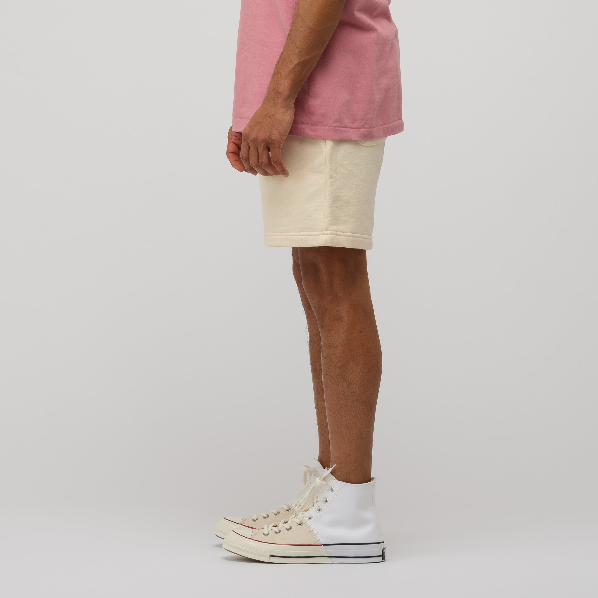 French Terry Shorts in Custard