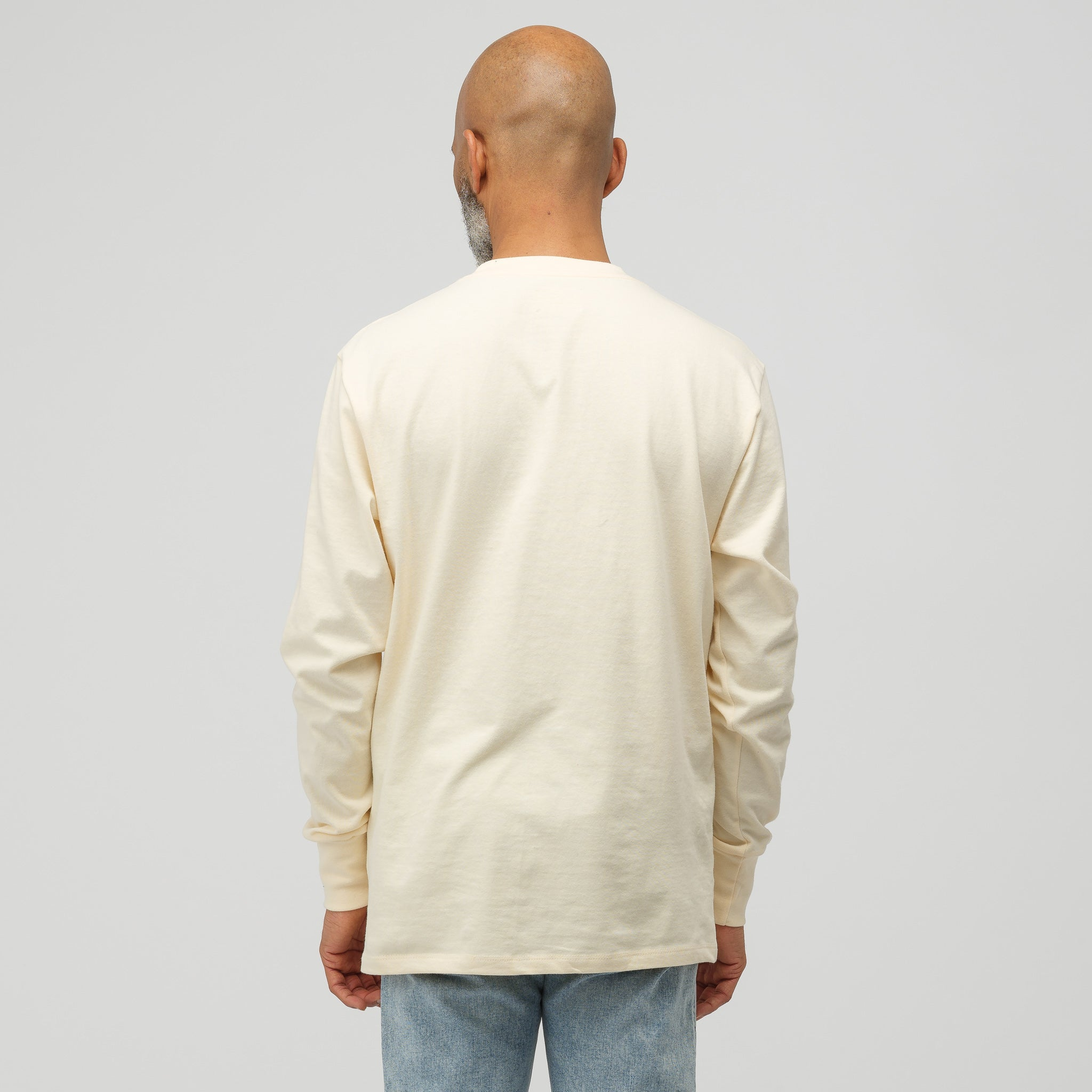 Long Sleeve Logo T-Shirt in Custard