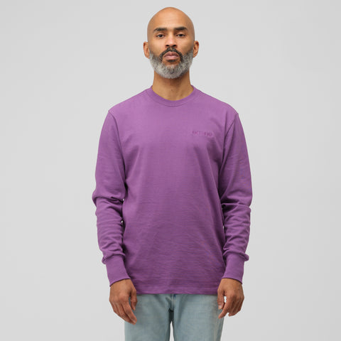 Aimé Leon Dore Long Sleeve Logo Tee in Purple Tape - Notre