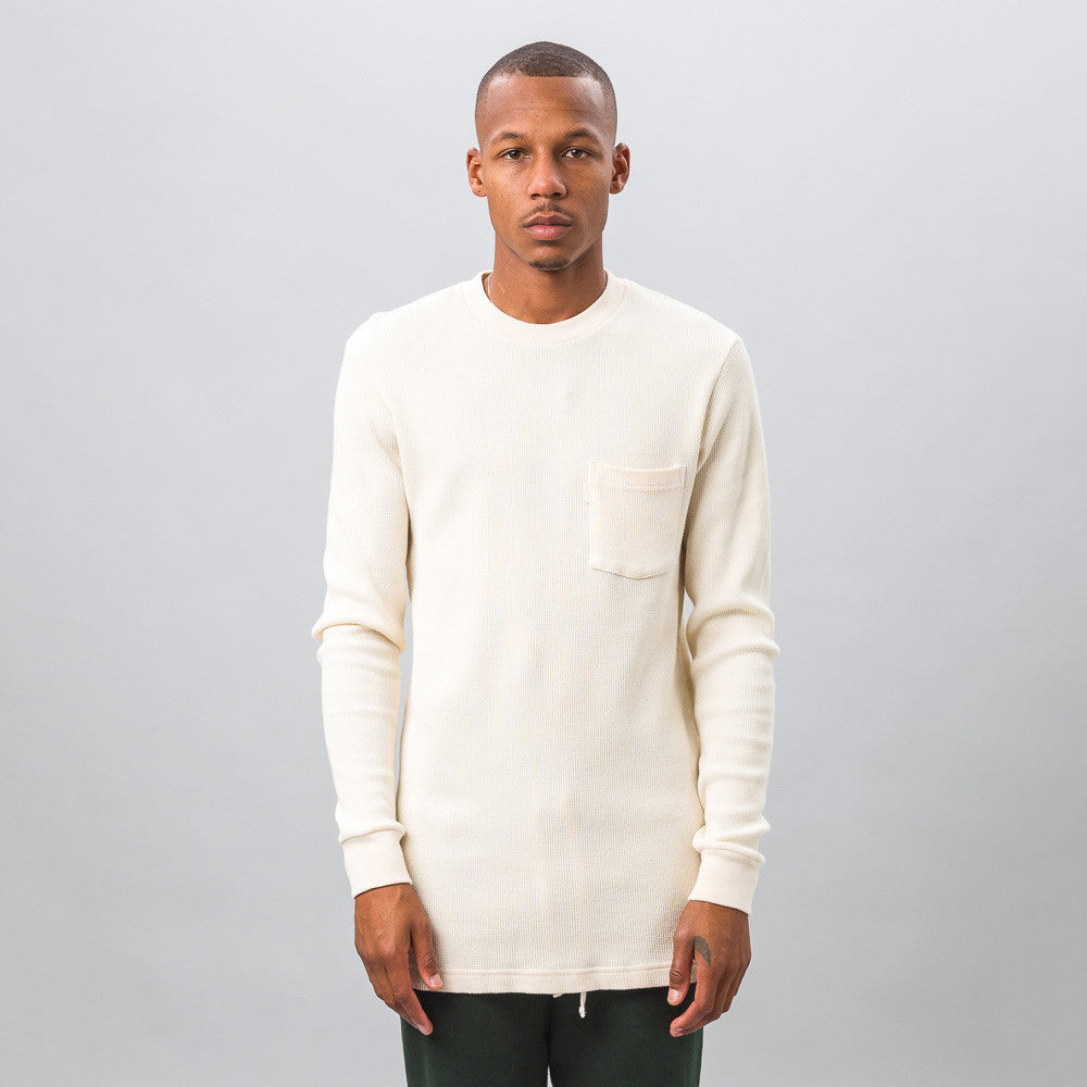 Aimé Leon Dore - Long Sleeve Waffle Thermal in Cream - Notre - 1