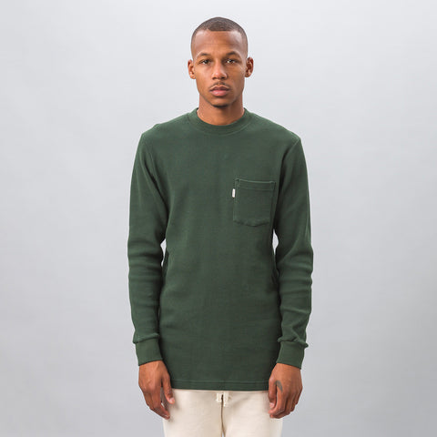 Aimé Leon Dore - Long Sleeve Waffle Thermal in Green - Notre - 1