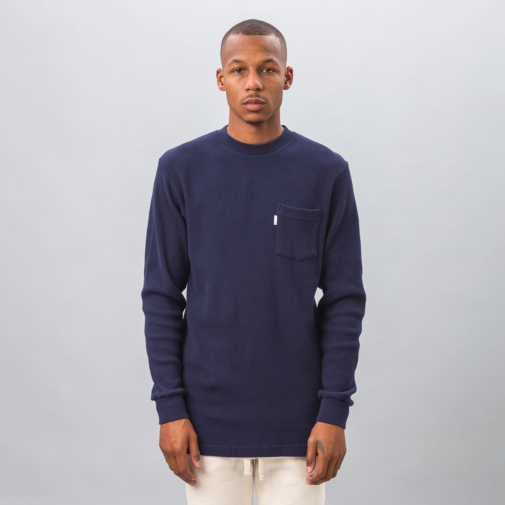 Aimé Leon Dore - Long Sleeve Waffle Thermal in Navy - Notre - 1