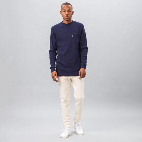Aimé Leon Dore Long Sleeve Waffle Thermal in Navy - Notre