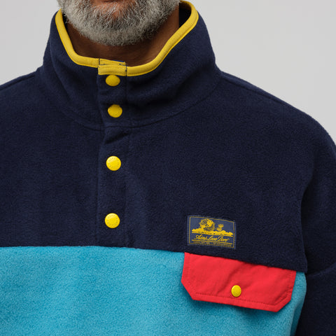 Aimé Leon Dore Polar Fleece Pullover in Midnight Combo - Notre