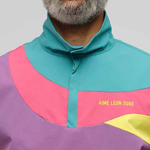 Aimé Leon Dore Color Blocked Nylon Pullover in Purple Tape Combo - Notre