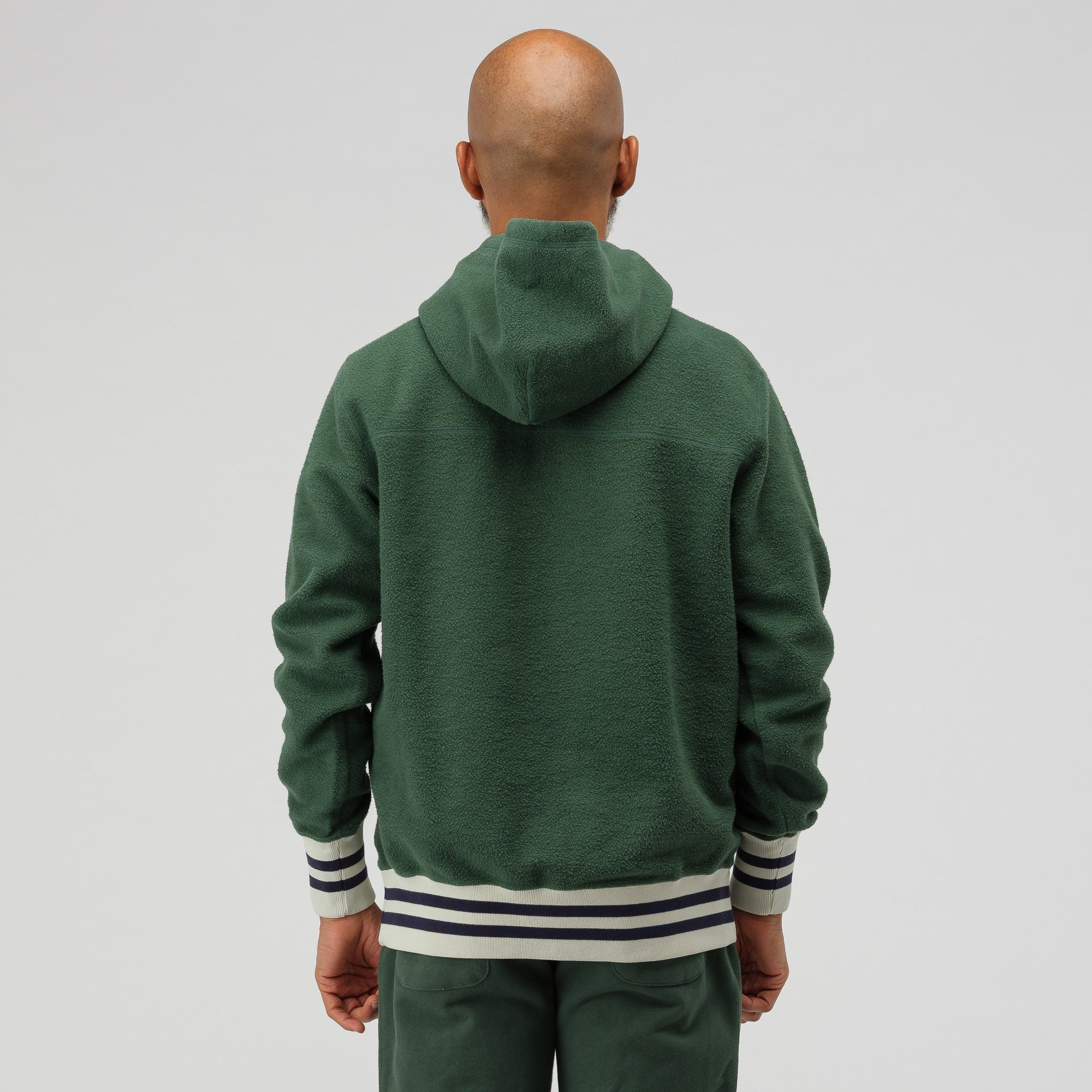 Reverse Fleece Logo Hoodie in Green