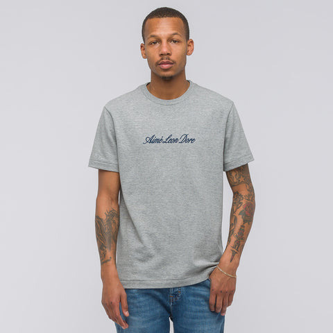 Aimé Leon Dore Short Sleeve Script T-Shirt in Grey - Notre