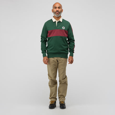 Aimé Leon Dore Striped Rugby Shirt in Green Multi - Notre