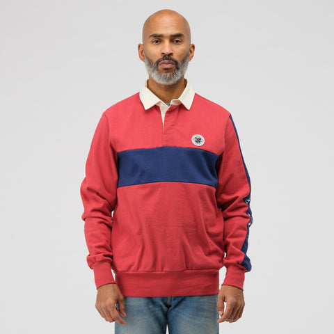Aimé Leon Dore Striped Rugby Shirt in Red Multi - Notre