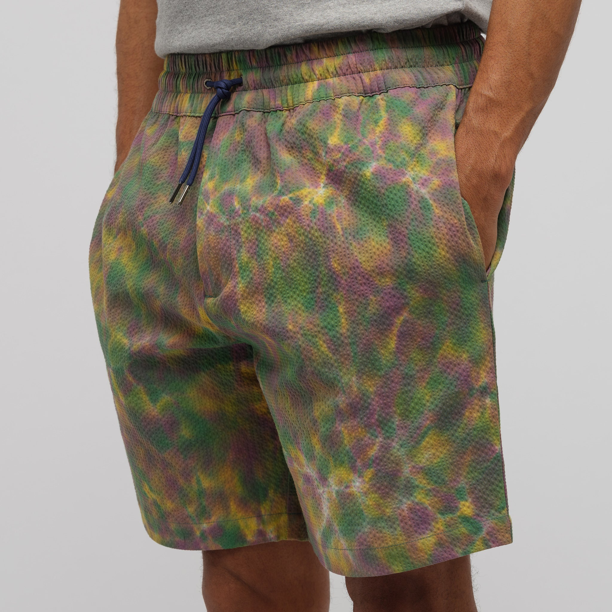 Tie Dye Leisure Shorts in Purple