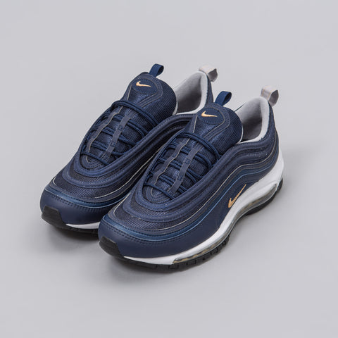 Nike Air Max 97 in Midnight Navy/Metallic Gold - Notre