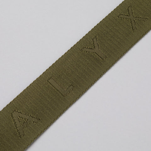 Alyx Studio Big Jacquard Belt in Military Green - Notre