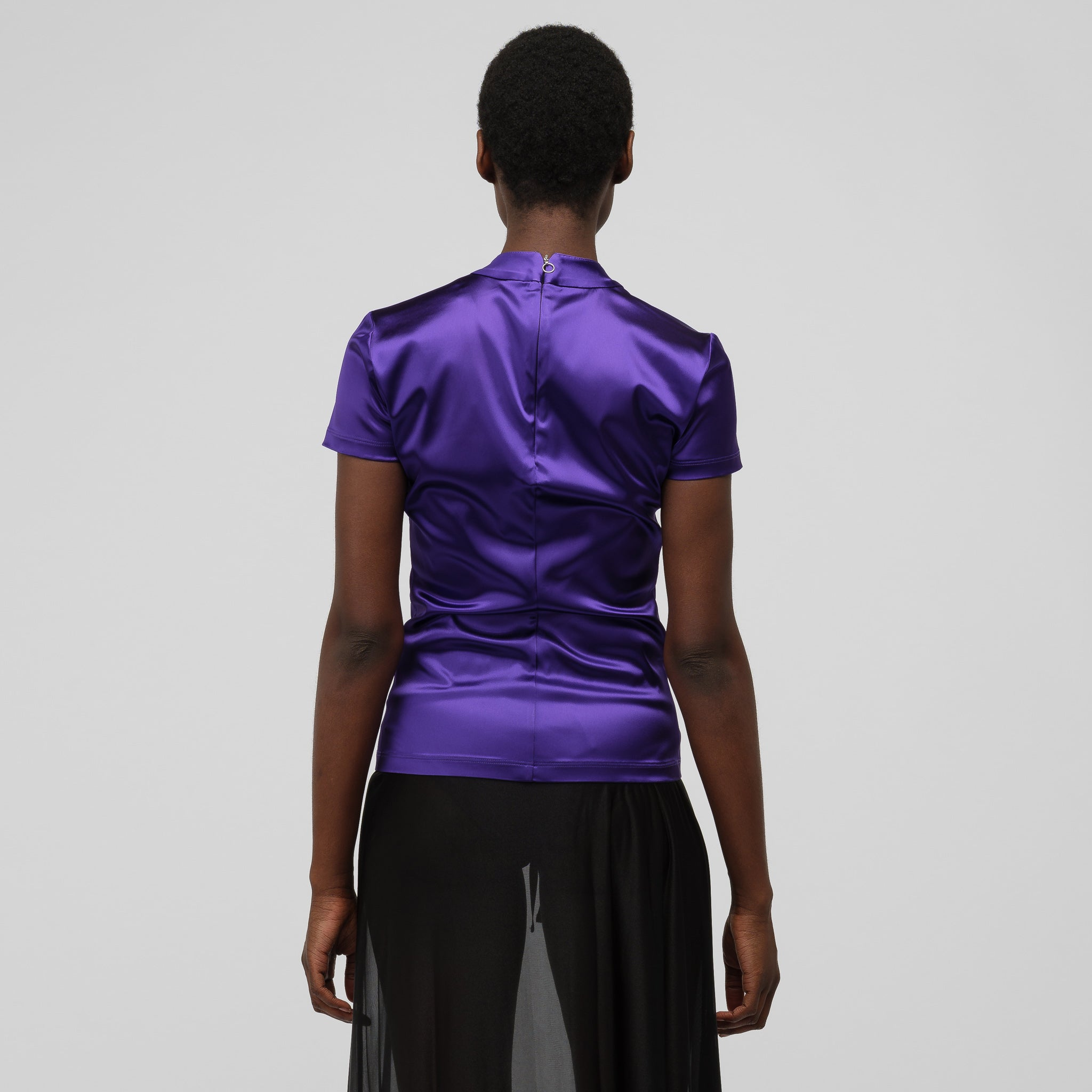 Lyxy Zip Shirt in Purple