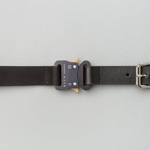 Alyx Studio Medium Rollercoaster Belt With Rings in Black - Notre