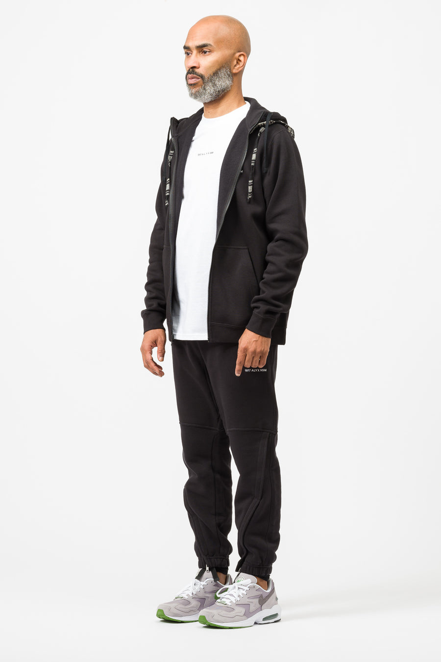 1017 ALYX 9SM Nike Zip Hoodie Check in Black/White - Notre
