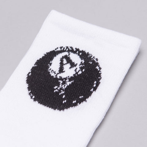 Alyx Studio 8 Ball Socks in White - Notre