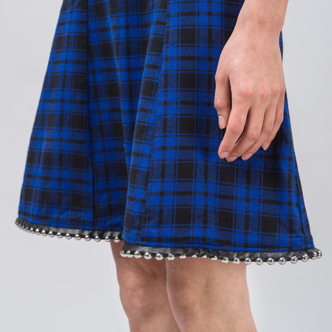 Alyx Studio Ballchain Dress in Plaid Blue - Notre