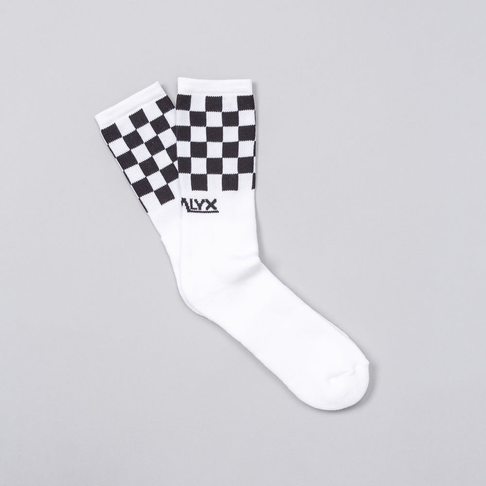 Alyx Studio Checkered Sock in White - Notre