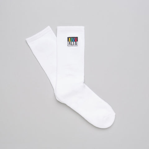 Alyx Studio Colorblock Socks in White - Notre