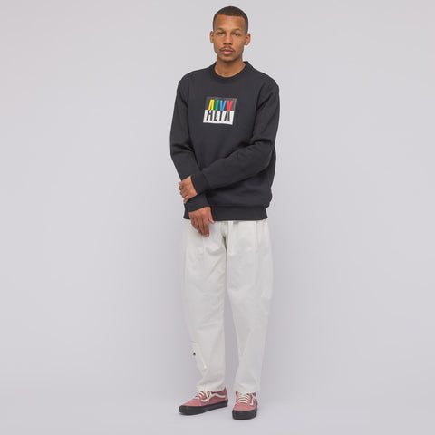 Alyx Studio Colorblock Crewneck Sweatshirt in Black - Notre
