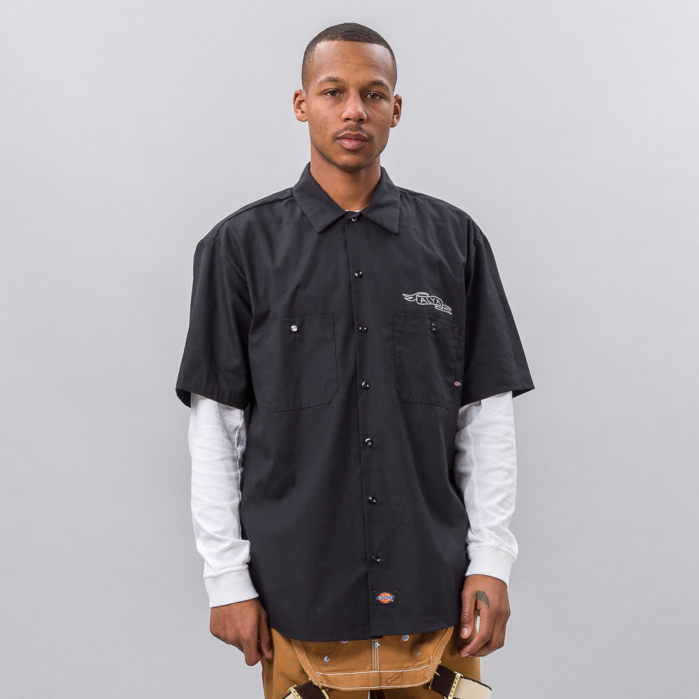 Alyx Studio Dickies S/S Shirt in Black - Notre