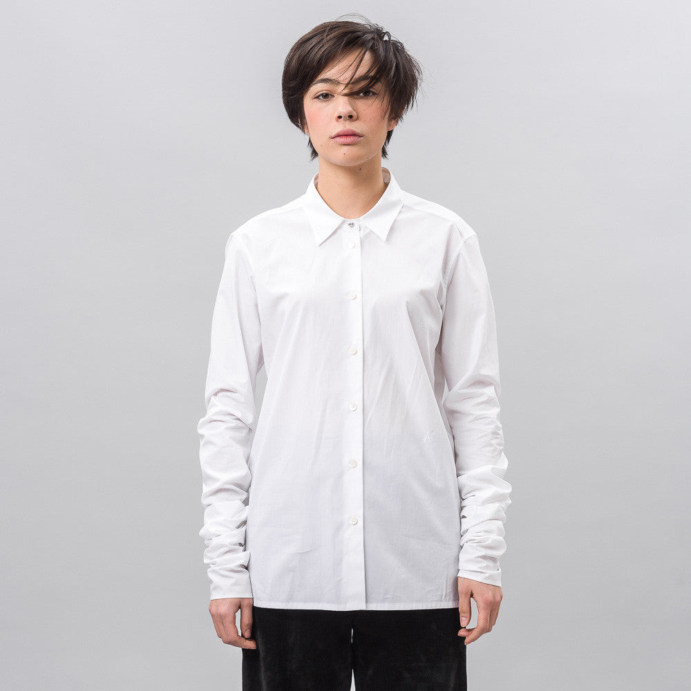 Infinity Sleeve Shirt in White