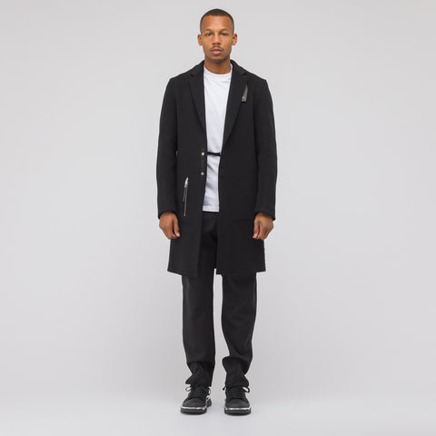 Alyx Studio Lab Coat with Leather Tab in Black - Notre