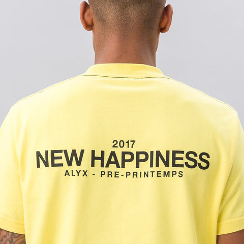 Alyx Studio New Happiness S/S Tee in Yellow - Notre