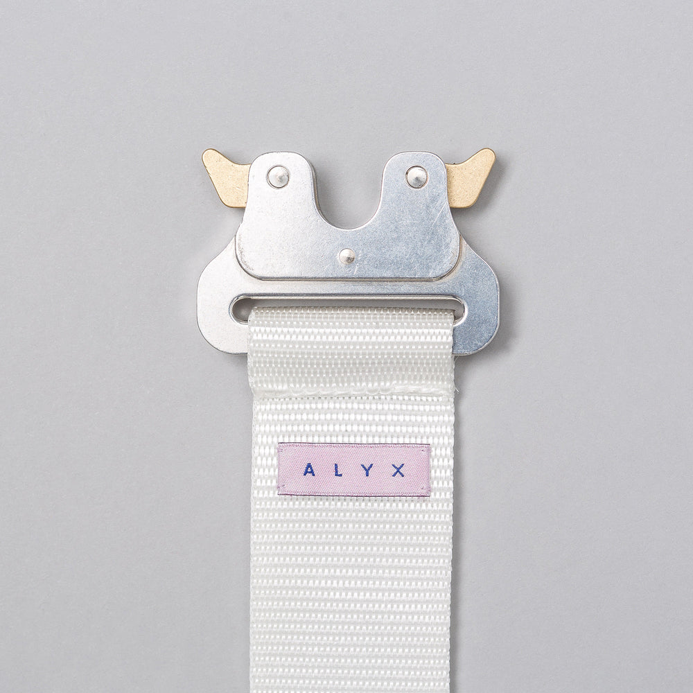 Alyx Studio Rollercoaster Belt in White - Notre