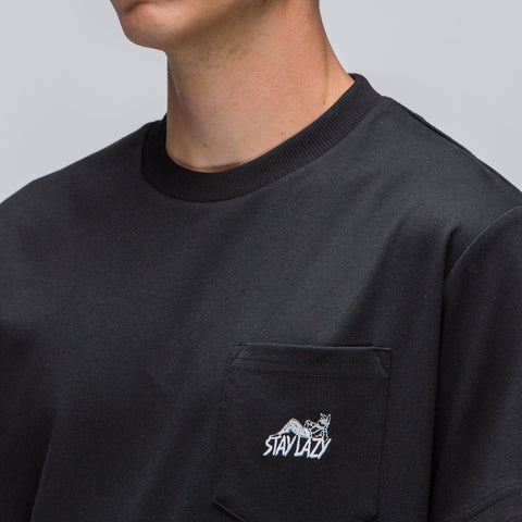 Alyx Studio Stay Lazy Short Sleeve Pocket T-Shirt in Black - Notre