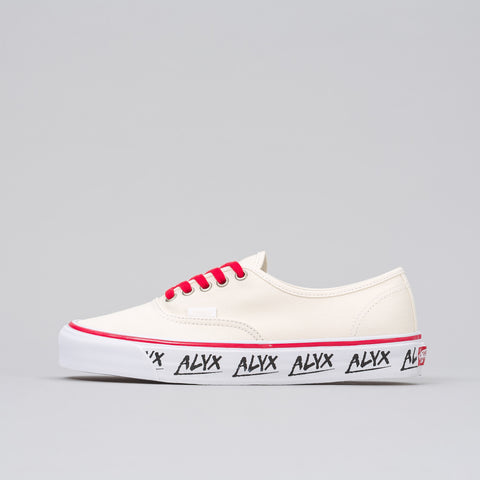 Alyx Studio Alyx x Vans Vault OG Authentic LX in White/Red - Notre