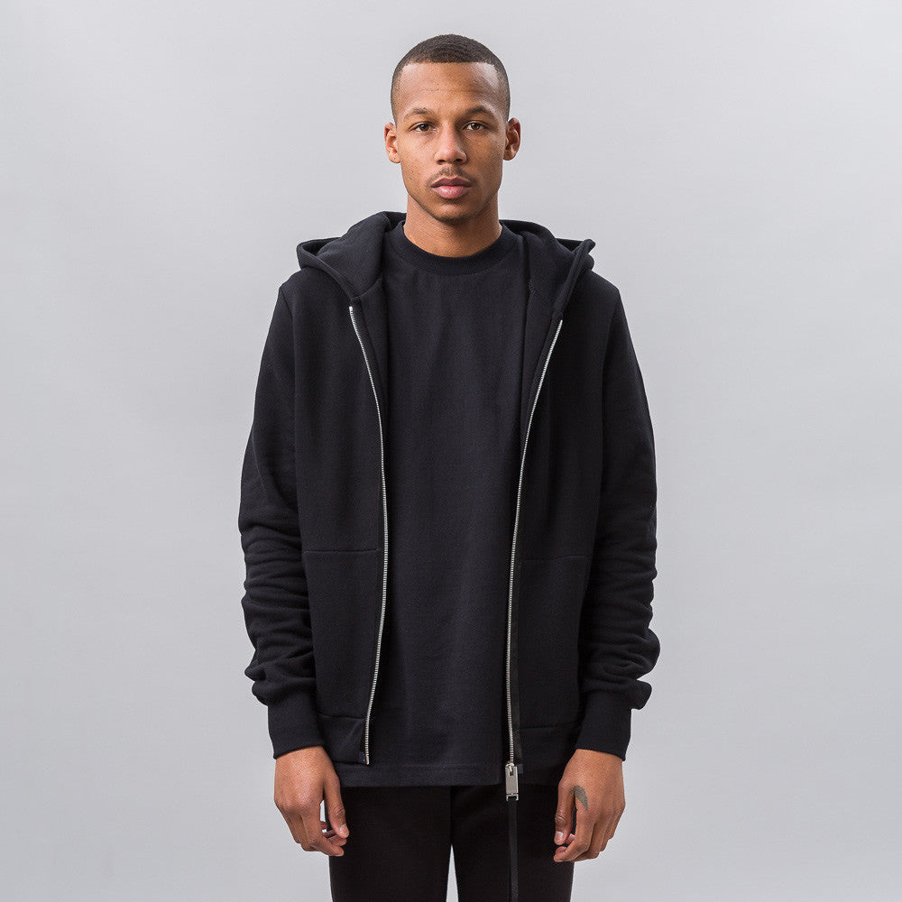 Alyx Zip-up Hoodie in Black Notre 1