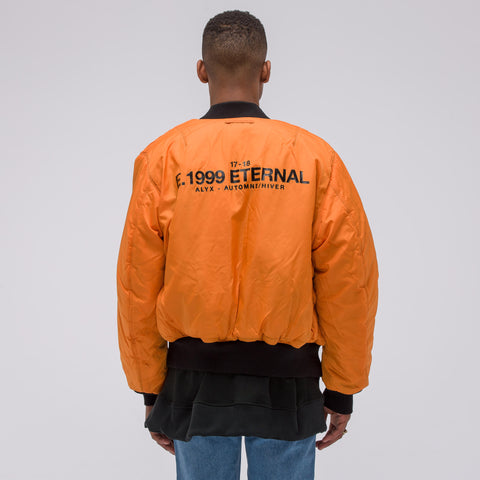 Alyx Studio E. 1999 Eternal Bomber Jacket in Black - Notre
