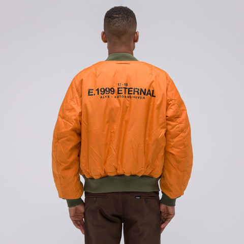 Alyx Studio E. 1999 Eternal Bomber Jacket in Green - Notre