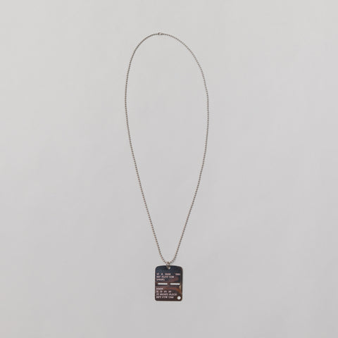 Military Tag in Silver