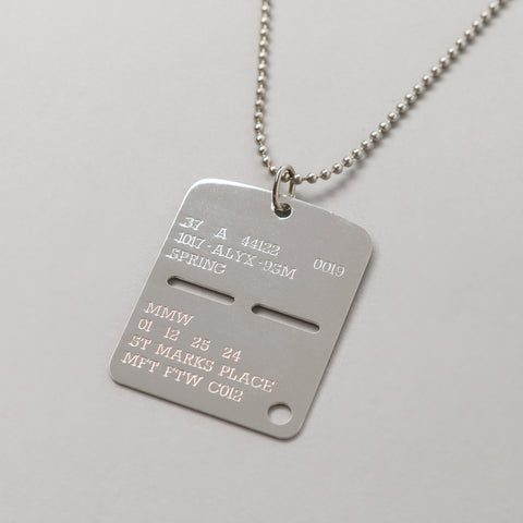 Alyx Studio Military Tag in Silver - Notre