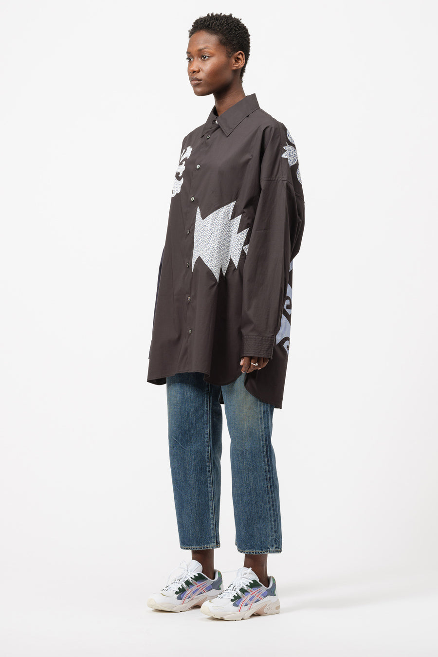 AMBUSH Patchwork Shirt in Black - Notre