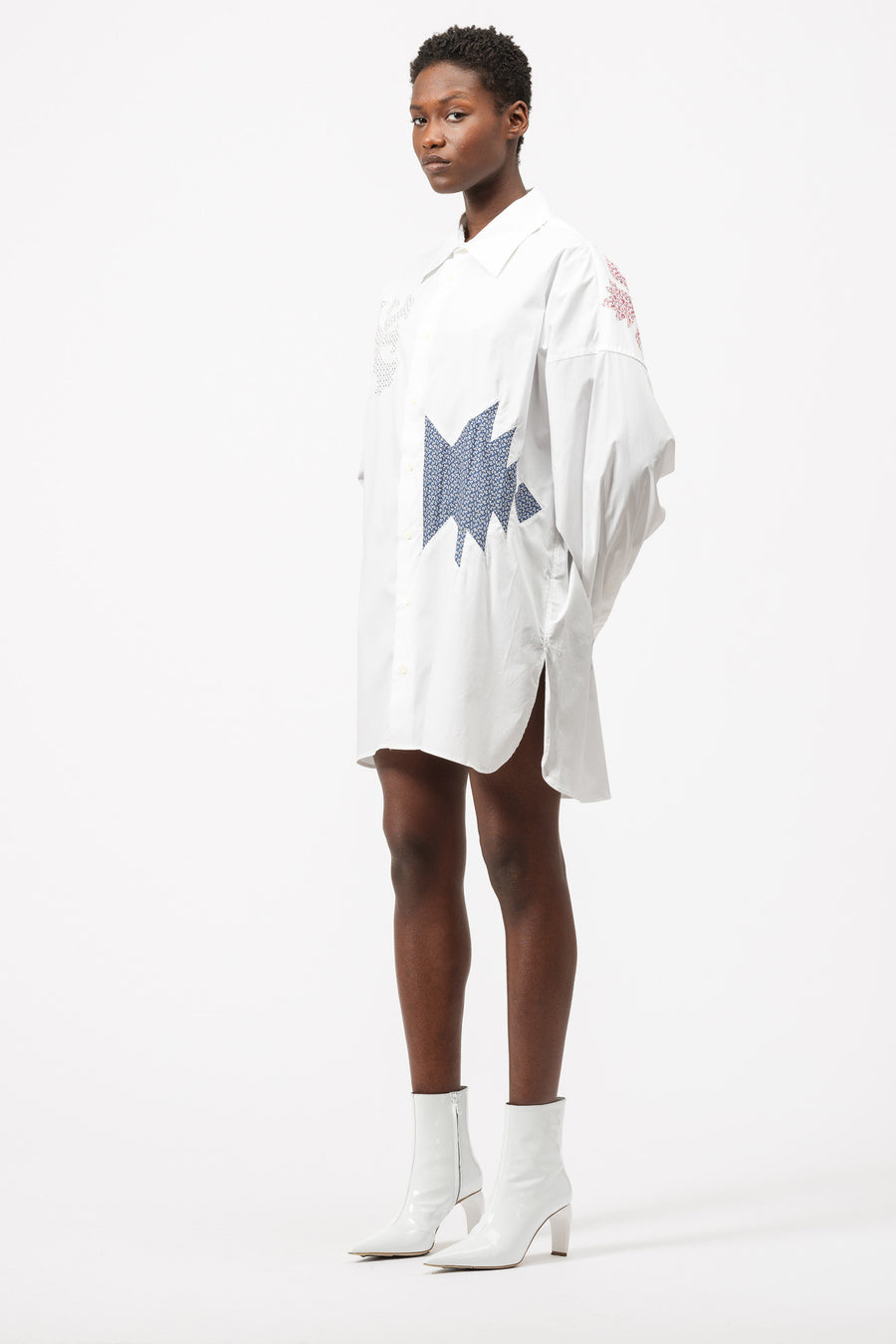 AMBUSH Patchwork Shirt in White - Notre