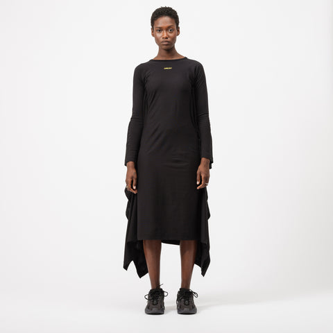 AMBUSH Waves Drape Dress in Black - Notre